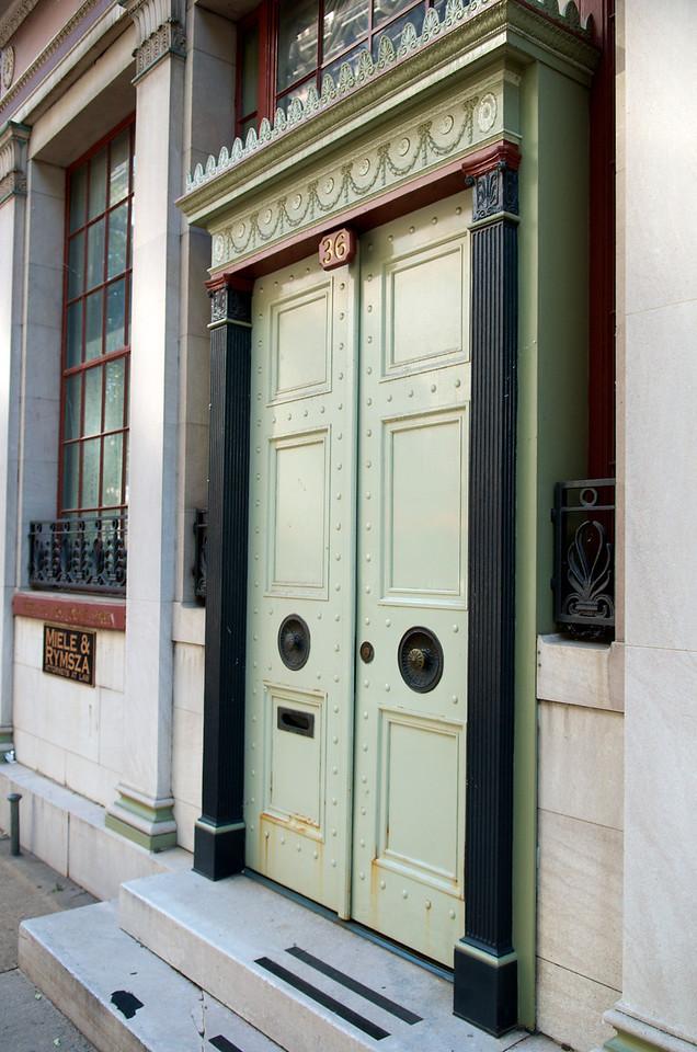 Unique doors at 36 W. 4th Street.