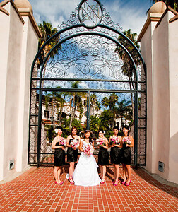 Bride and Brides maids_gate