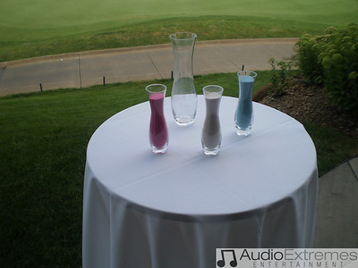Sand Mixing Ceremony. This is a great idea for any outdoor ceremony.