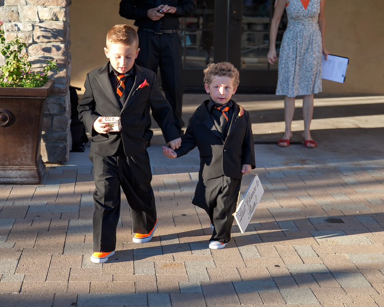 The ring bearers were the Maid of Honor's sons, Jayce and Jax Enochs.