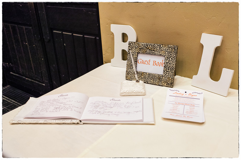 The wedding guest book.
