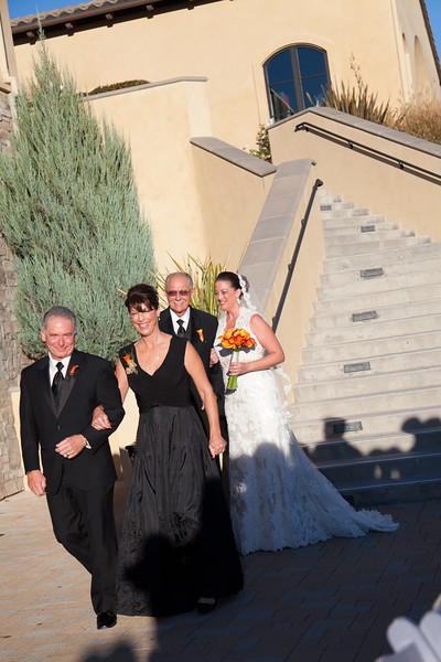Lindsay was walked down the aisle by her mother, Kathy Mion, and her grandfather, Kenneth Bowlin.