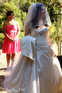 Rose looks on at the beautiful bride - Cupertino, CA ... August 15, 2010 ... Photo by Rob Page III