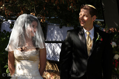 Liora and Gabe on their wedding day - Cupertino, CA ... August 15, 2010 ... Photo by Rob Page III