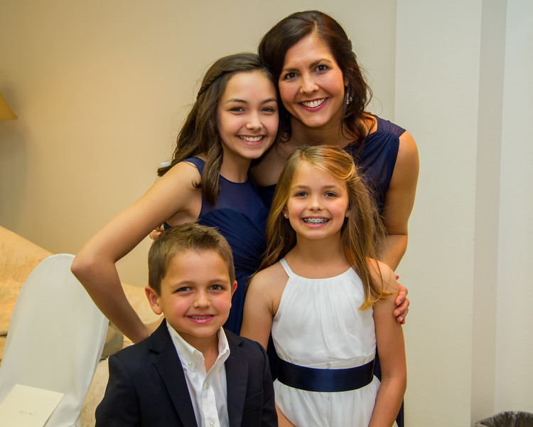 Julie with her kids:  Laney, Ella and Kye