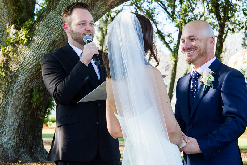 Our son-in-law, Kyle, was the officiant