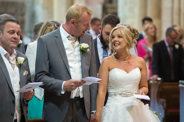 Lisa & Steve at Pershore Abbey Worcestershire