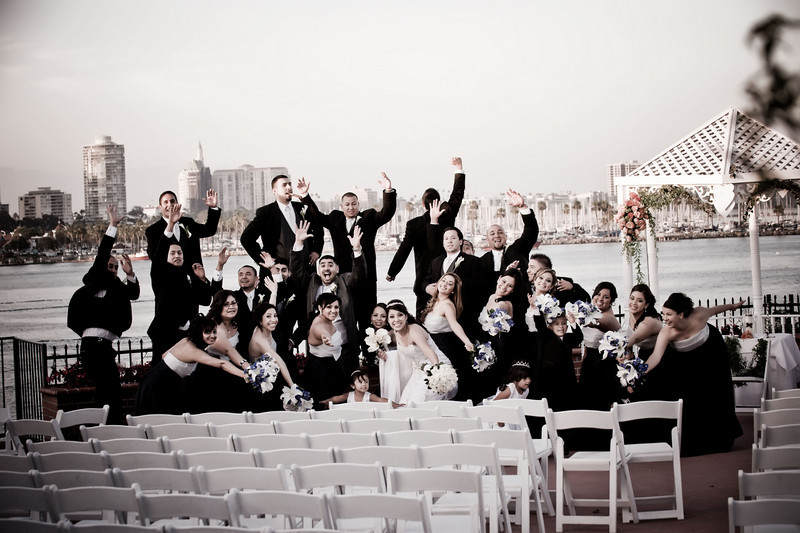 Fun wedding pics at the Reef Long Beach.