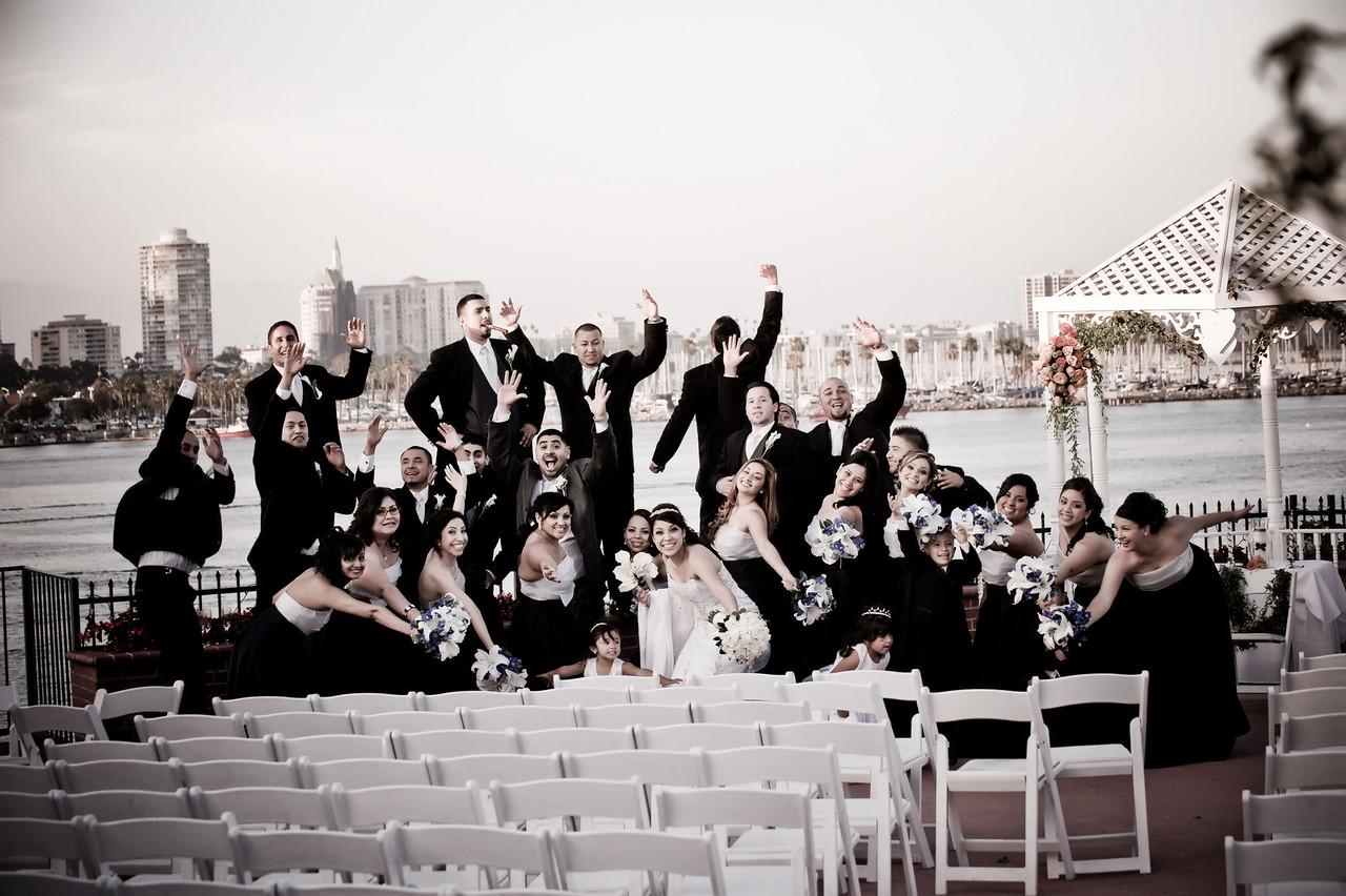 Fun wedding pics at the Reef Long Beach.