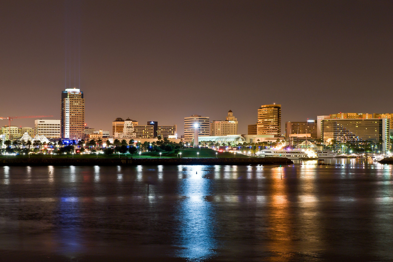 View of downtown Long Beach from the reef restaurant.