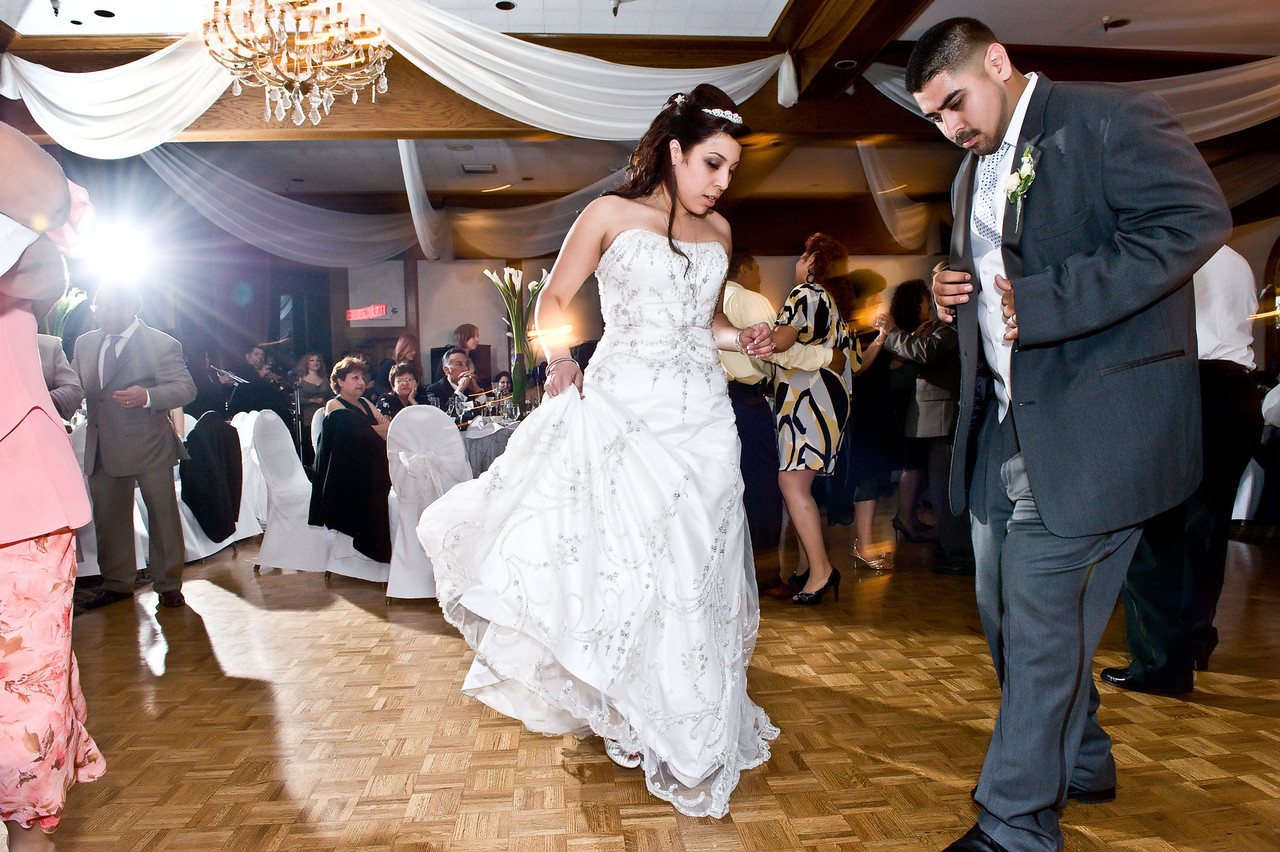 Wedding reception dance at the Reef in Long Beach.