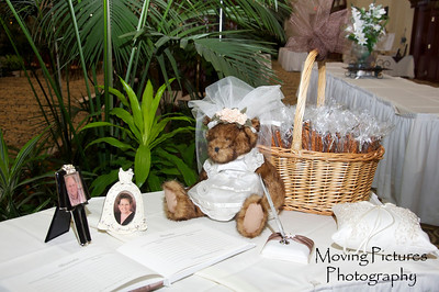Wedding day - items at sign-in table