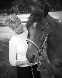 Nancy&Horse_6257_B&W