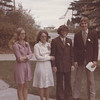 My maid of honour - Judy Ferguson (Dave's younger sister), me, Dave, Best Man - Art Cappelle (Dave's best friend).