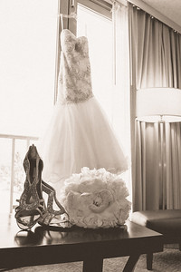 Getting ready for the wedding at the Westin Pasadena