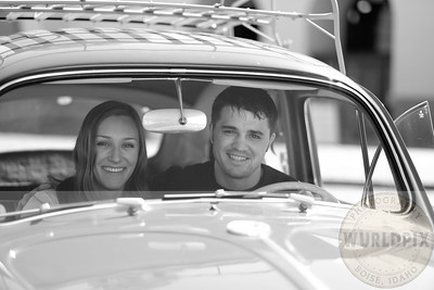 out in the VW bug Boise getting some wedding announcement photos. This was taken at the Boise train Depot.  Great weather!
