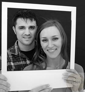 polaroid look doing the wedding announcement photo Boise idaho