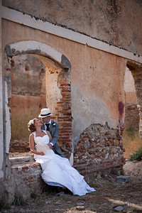 After preparation at an appartment in Frigiliana, Stine with her Father took a gentle through the picturesque cobble streets to the beautiful San Antionio Church in Frigiliana Square. A nervous Karre surrounded by close friends and family waited patiently for the arrival of Stine and her Father. As a close friend sung for them during the ceremony there was not a dry eye to be seen. After drinks outside the church and a walk around the cobble streets I took Stine and Karre to old the sugar factory of Nerja for some contemporary portraits. It was then onto Playa Marina for the celebrations to begin. After a lovely dinner an amazing flamenco show was enjoyed by everyone on the beach. The evening entertainments then continued with an intriguing game of blind date and other very entertaining games lead by close friends. A big thank you to Jennifer of Spanish Wedding Planner for organizing a fabulous day.