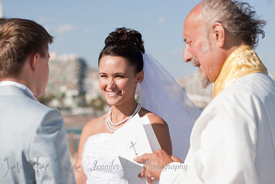 On a very windy day in September Ilya and Marina exchanged rings and vows on the beach front of Sunset Beach Club in Benalmedina. It was a very intimate affair as they were joined by close family members only. A big thank you to Matt Mcgurk for his fabulous guitar playing throughout the celebrations.