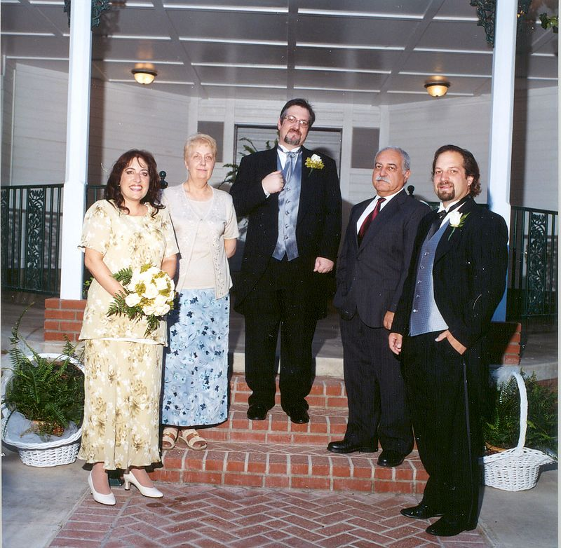 Marc and his family - Jen, Sharon, Jacques, and Robert