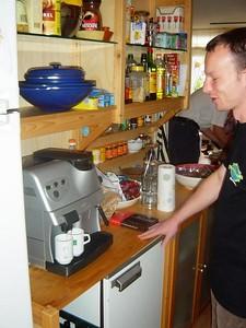 Erik in the kitchen