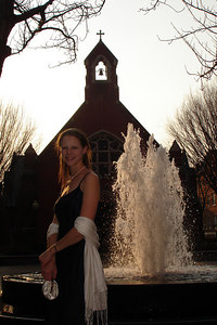 Emily, before we headed into Dahlgren Chapel - Washington, DC ... March 10, 2007