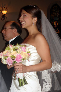 Maria's father escorts her down the aisle - Washington, DC ... March 10, 2007