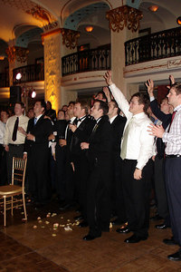 The guys waiting for Maria's garter - Washington, DC ... March 10, 2007