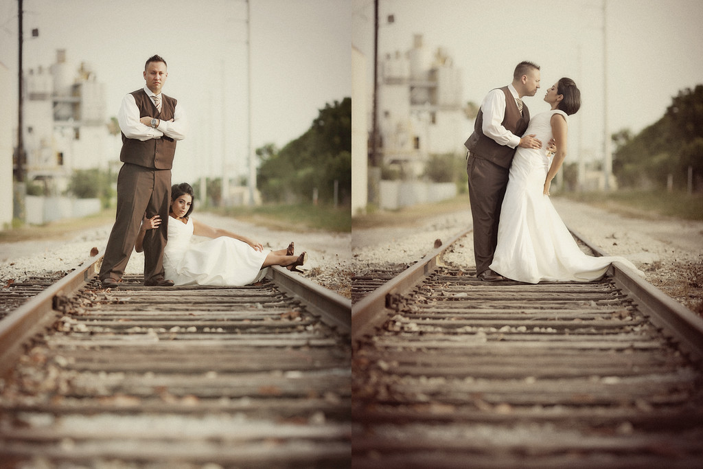 Miami railroad wedding dress