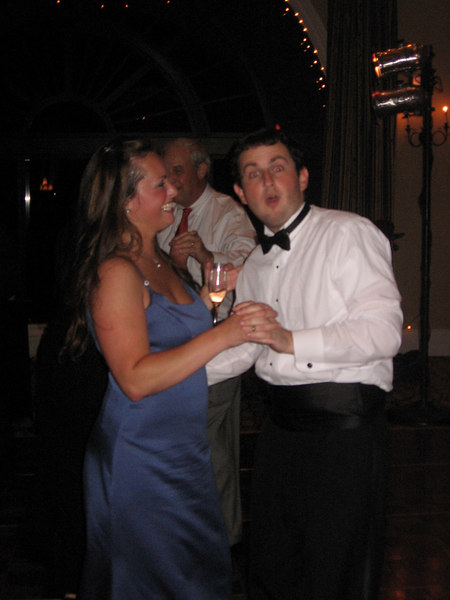 Angela and Mike dancing.