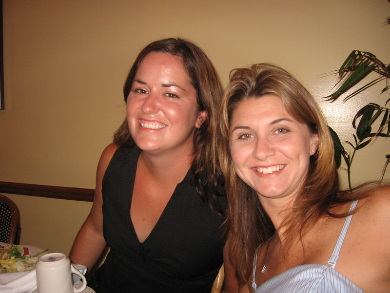 Me and Brooke, enjoying the open bar at the rehearsal dinner.
