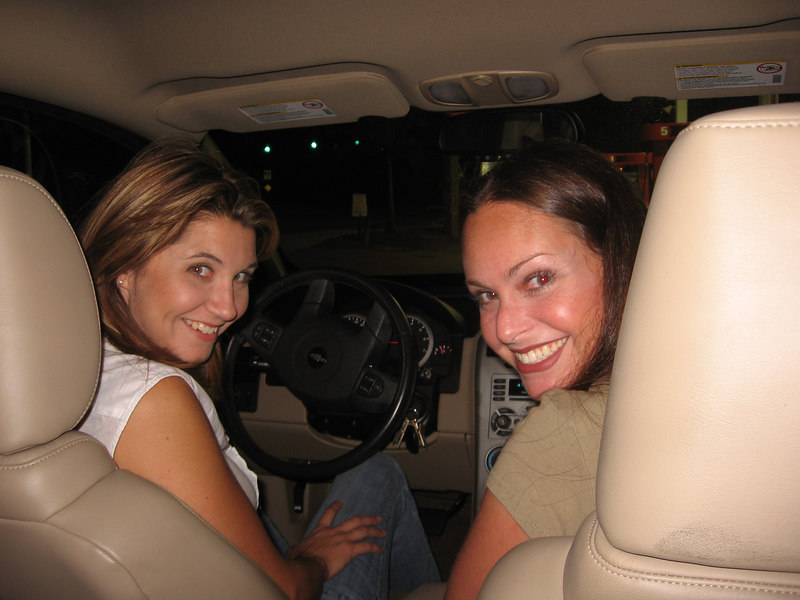 """Brooke and Angela heading to Thursday night out at """"Downtown Palm Beach Gardens""""."""