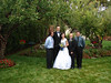 The new Fabry family, in the Thomas back yard before the reception