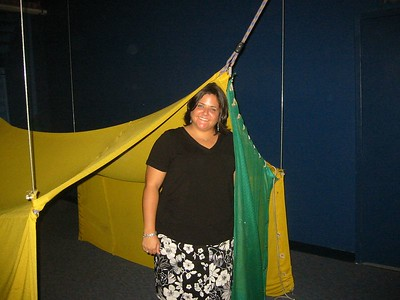Kenzi in a tent