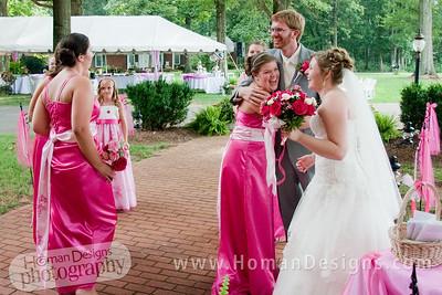 Celebrating after the ceremony.