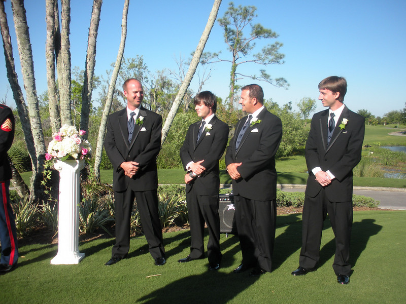 Here we are, PJ, Brother of the bride, Joe, Mat Best Friend?