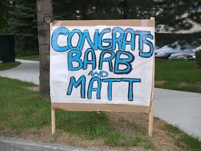 Matt & Barb's Wedding - Reception