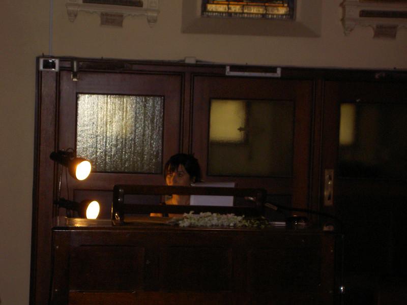 Majella plays the organ