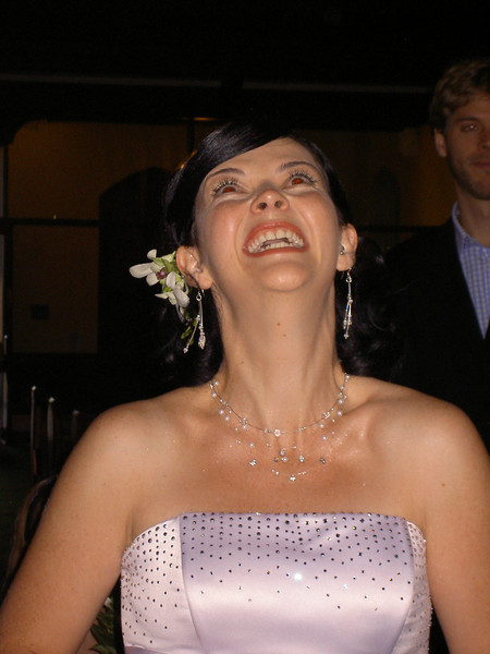 The giggling bride