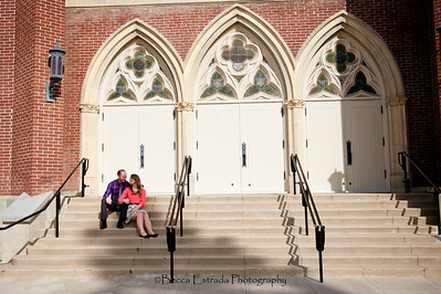 Becca Estrada Photography - Matt and Gretchen Engagement in Old Towne Orange-29