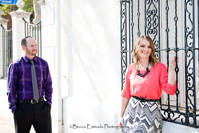 Becca Estrada Photography - Matt and Gretchen Engagement in Old Towne Orange-24