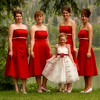 Brides maids and flower girl
