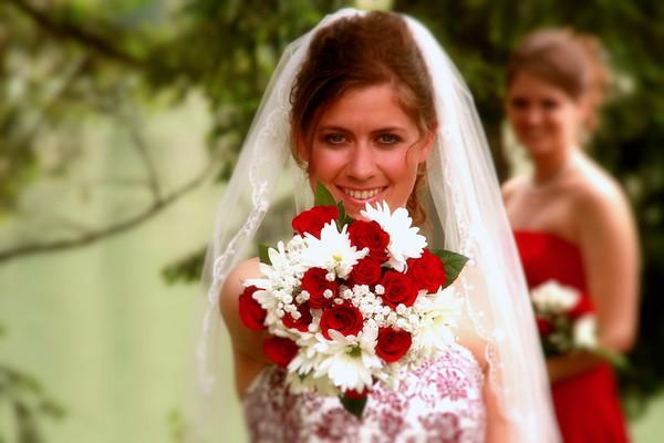 bride and Bouquette