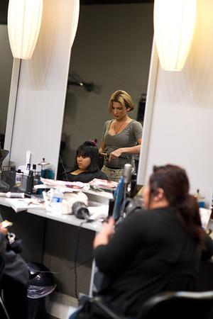Mayra Preparations at Studio J Salon