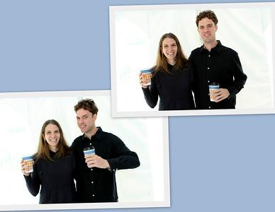 Laura Ann & Noble enjoy their coffee.