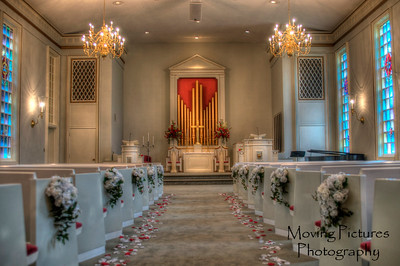 The chapel, immediately before the ceremony & guests