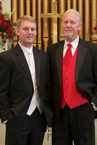 Groom and best man (Dad)