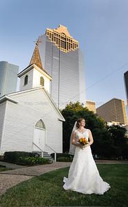Taken in front of Saint John Church at Sam Houston Park