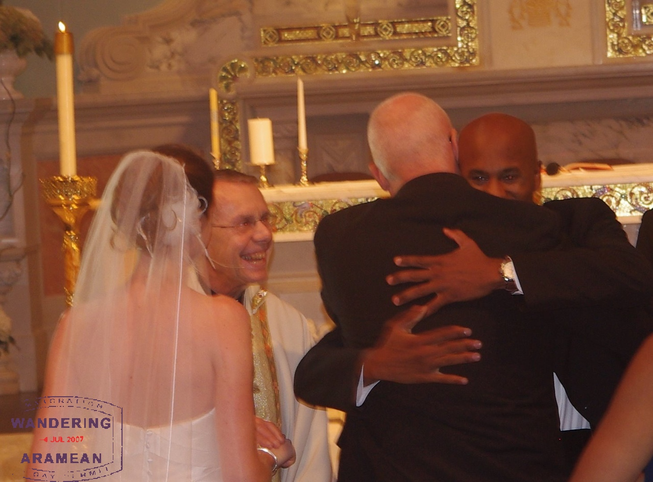 The handoff from father to husband
