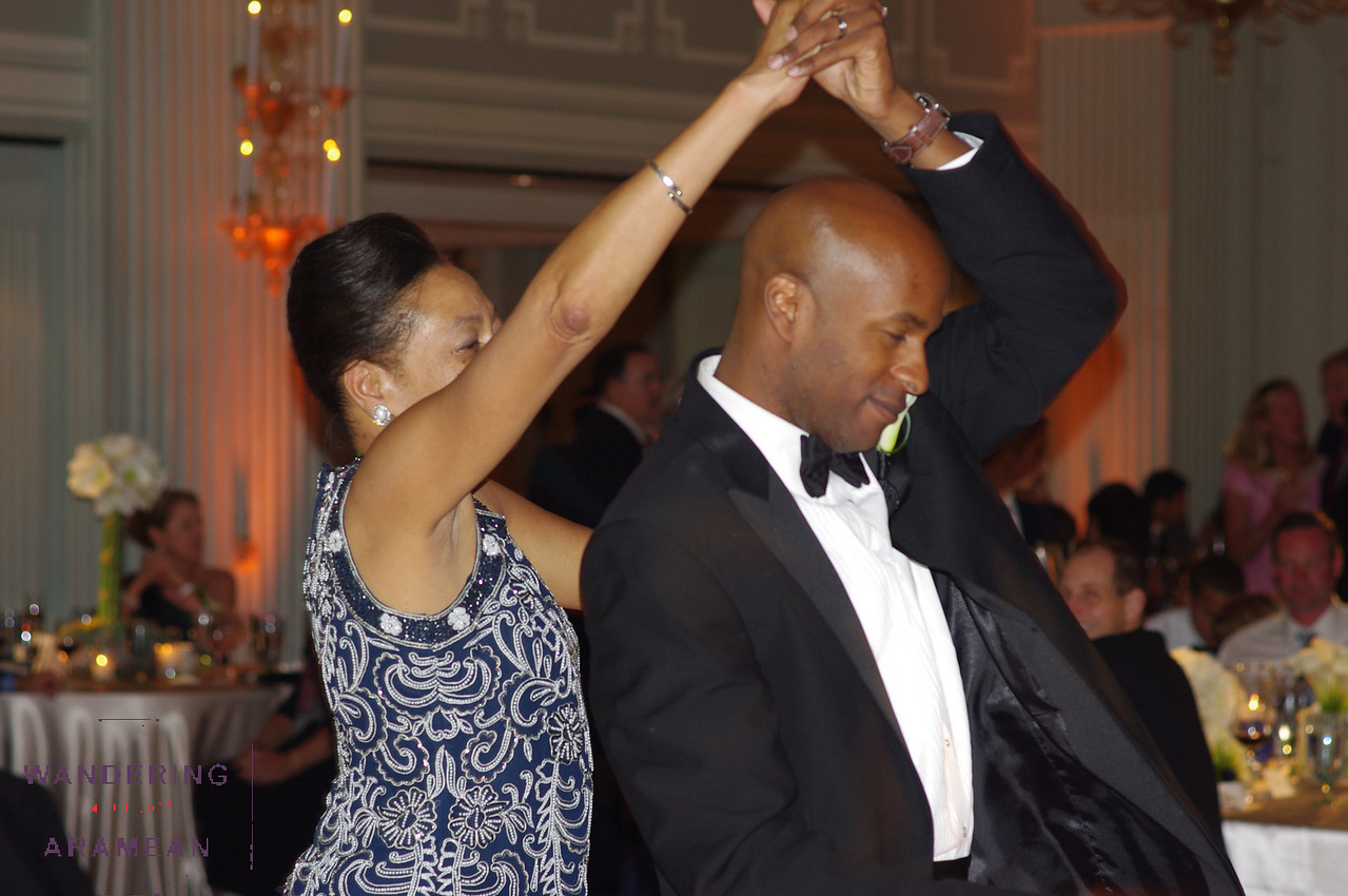 A bit of style from the mother/son dance, too